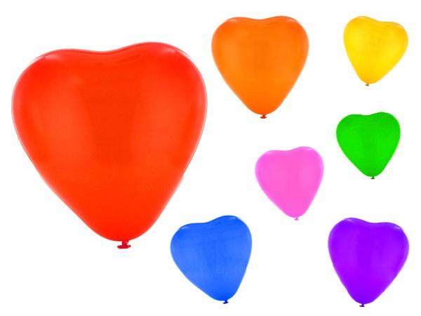 Herz Luftballons Ballons Herzluftballons Hochzeit Party Geburtstag bunt 25 Stk