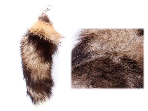 Fuchsschwanz Anhänger Taschenanhänger Fuchsschweif Echtfell Schlüsselanhänger