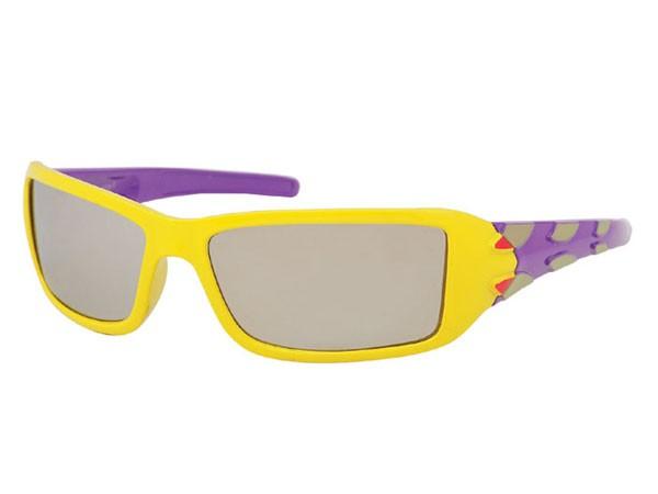 Sportliche Kinder Sonnenbrille silber verspiegelt Viper K-75