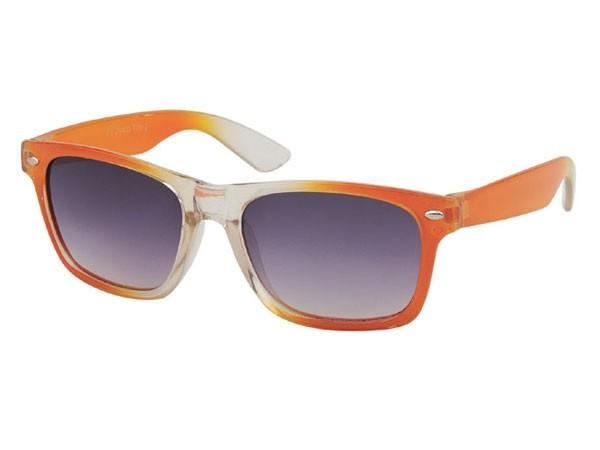 Farbige Retro Nerd Kinder Sonnenbrille transparent Viper K-81