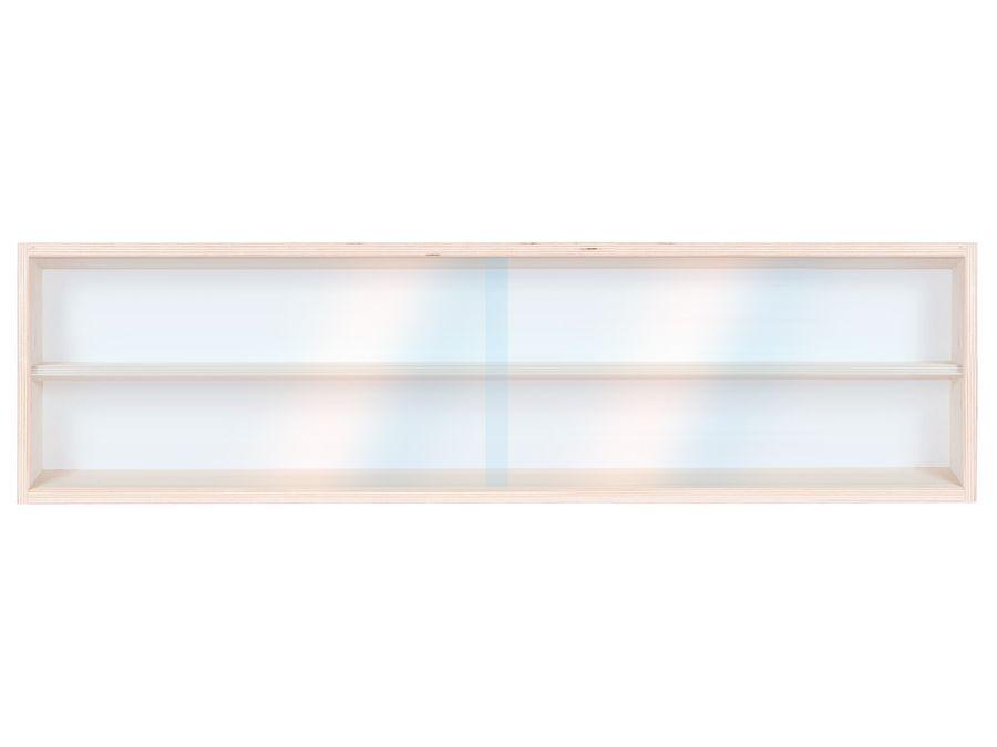 V80.2 Vitrine Spur HO & N Regal H0 80 cm 2 Fächer