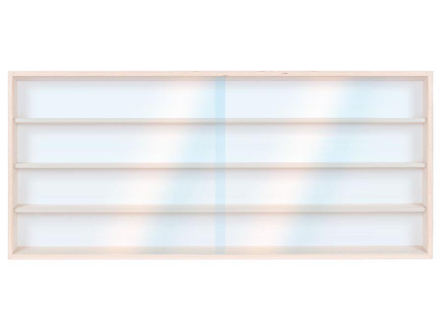 V110.4A Vitrine Spur HO & N Regal H0 110 cm 4 Fächer mit Nuten