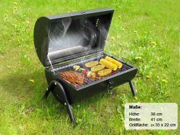 Zylindergrill Barbecue Grill Holzkohlegrill Camping Grill Zylinder Grill mit Griff