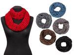 Écharpe tour du cou tricoté hiver