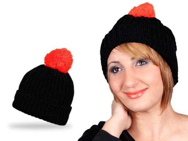 Wollmütze Strickmütze Wintermütze Bommel Mütze – Bild 8