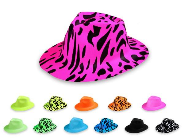 Kunststoff Karneval Scherzartikel Hut Al Capone Plastik Trilby Partyhut Fasching
