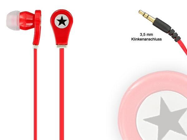 Alsino Viper Stereo Musik Kopfhörer InEar Kopfhörer MP3 Phone Headphone Stern – Bild 21