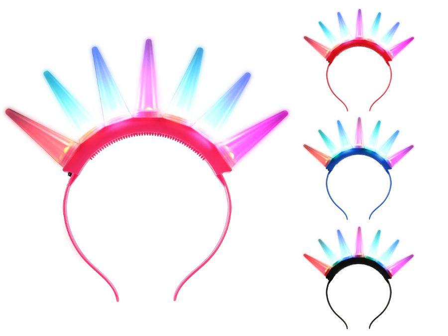 Blink Haarreifen 7 Hörner LED Leucht Haarreifen