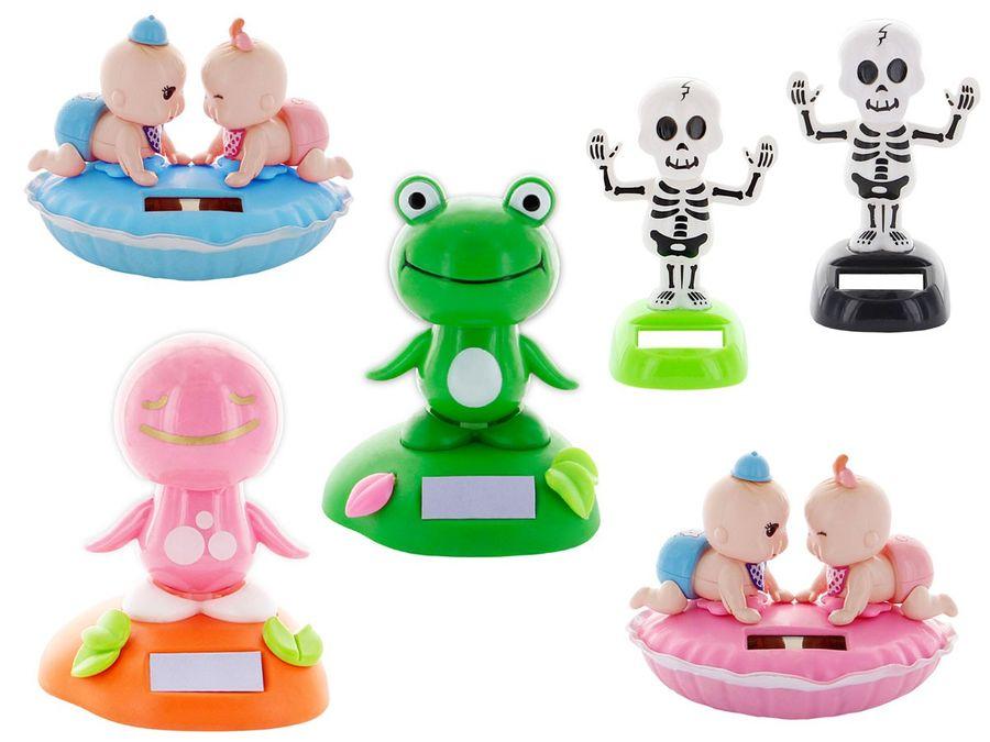 Feng Shui Wackelfigur, Solarfigur, Solarfiguren Frosch Skelett Babys