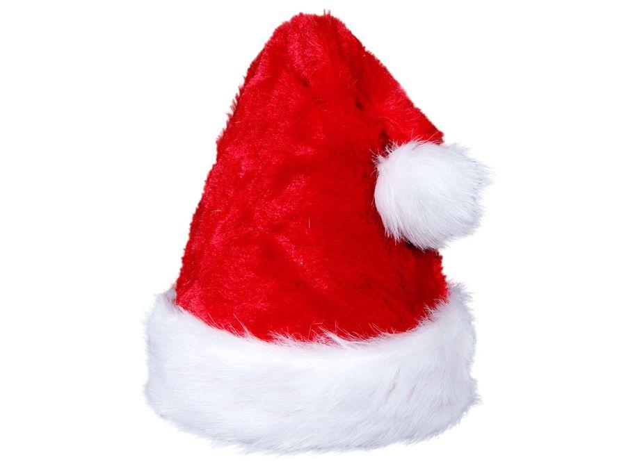 Weihnachtsmannmütze Nikolausmütze plüsch rot 65
