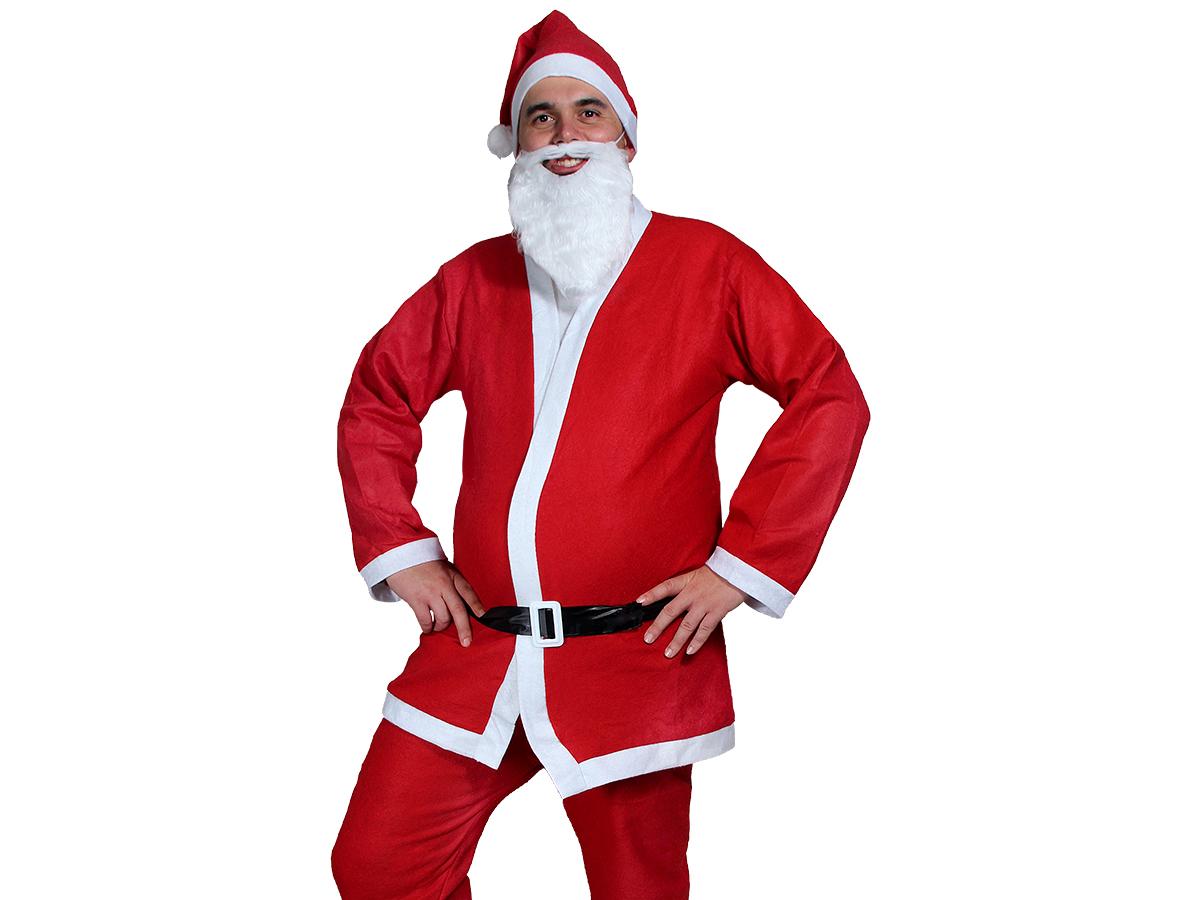 Weihnachtsmann Kostüm komplett mit Bart Modell: WK-74