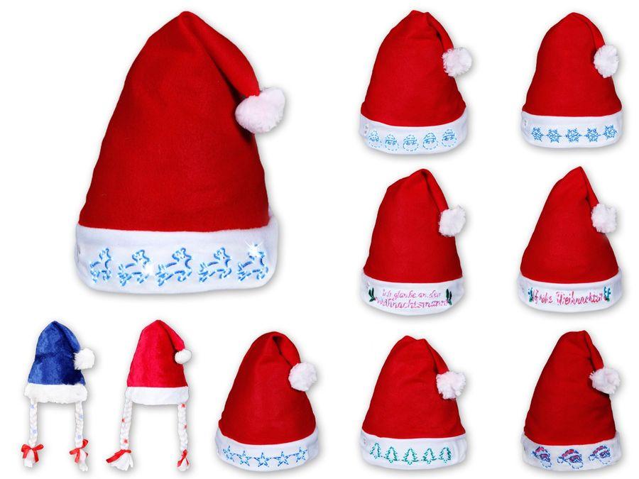 Weihnachtsmütze mit blinkenden mit Sternen