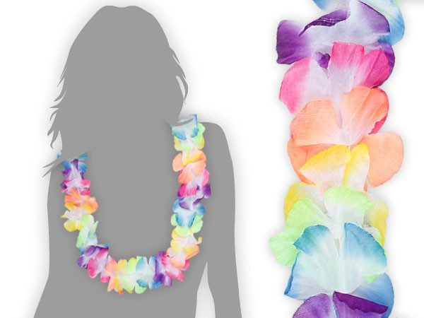 Hawaiikette Blumenkette in bunten Farben