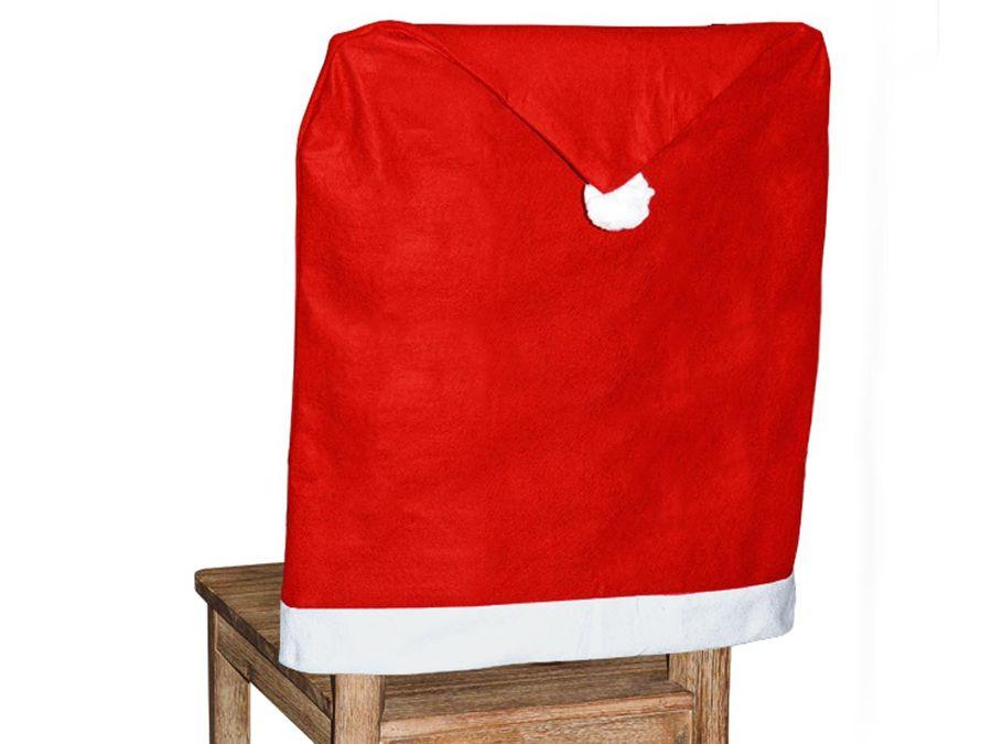 12er Set Stuhlhussen Dekoration Weihnachten Weihnachtsmütze wh-69