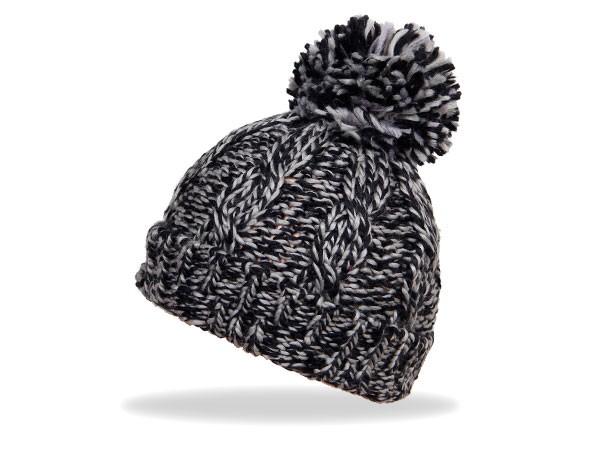 Wollmütze Strickmütze Wintermütze Bommel Mütze – Bild 2