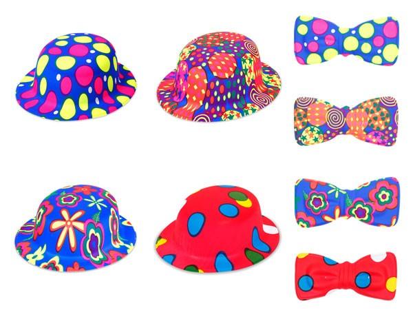 Kunststoff Melone Karneval Clownfliege Clownfliege Plastik Fliege Clownhut Fasching – Bild 1