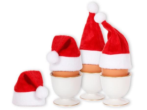Eierwärmer als Weihnachtsmütze mit Bommel - 1 Stück, WM-133