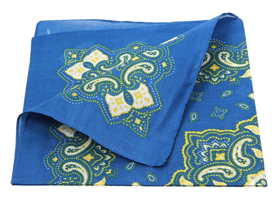 Bandana Zandana blau gemustert 100% Cotton 186