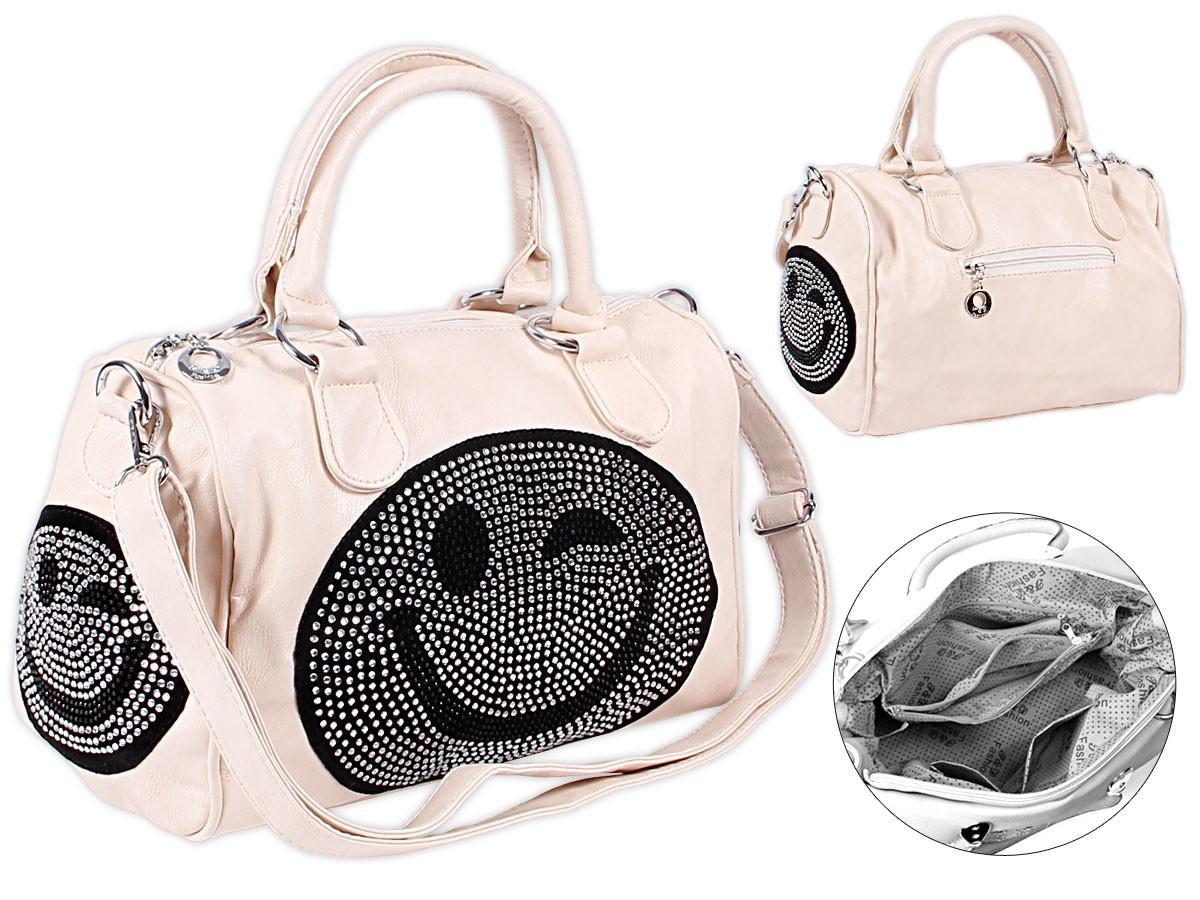 Strass-Damen-Schultertasche-Shopper-Bag-Handtasche-Glitzer-Eule-Nieten-Tasche