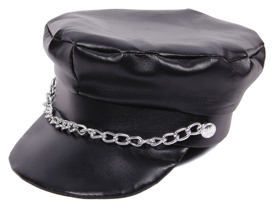 Greekcap Biker Cap in schwarz 178