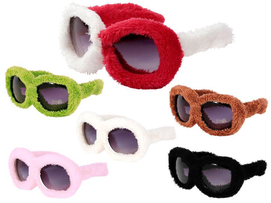 Alsino Plüschbrille Fun Brille Gagbrille Partybrille Apres-Ski Fasching Fellbrille 40