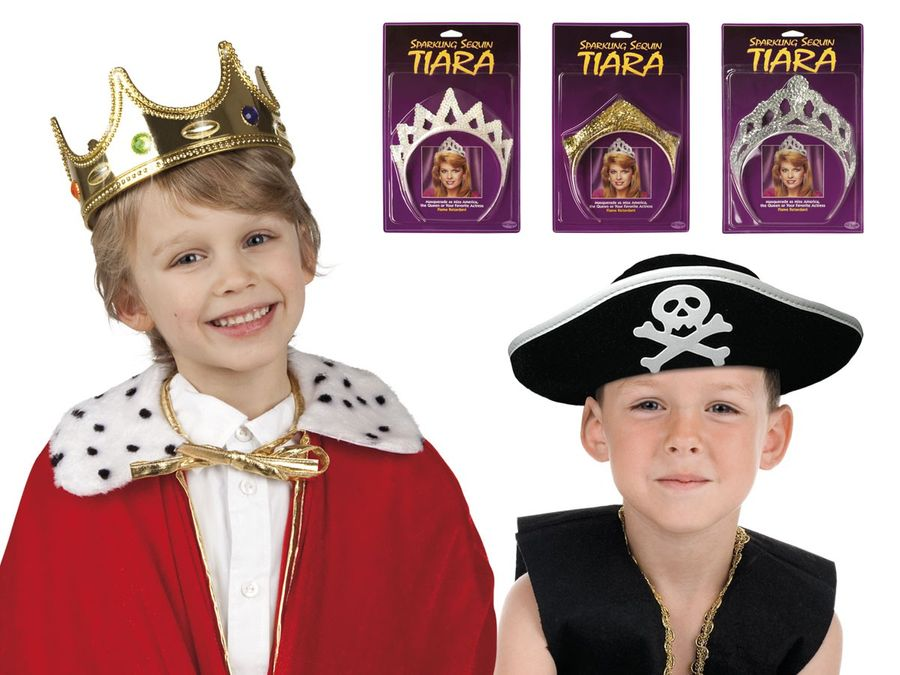 Kinder Fasching Krone König Karneval Kids Piratenhut