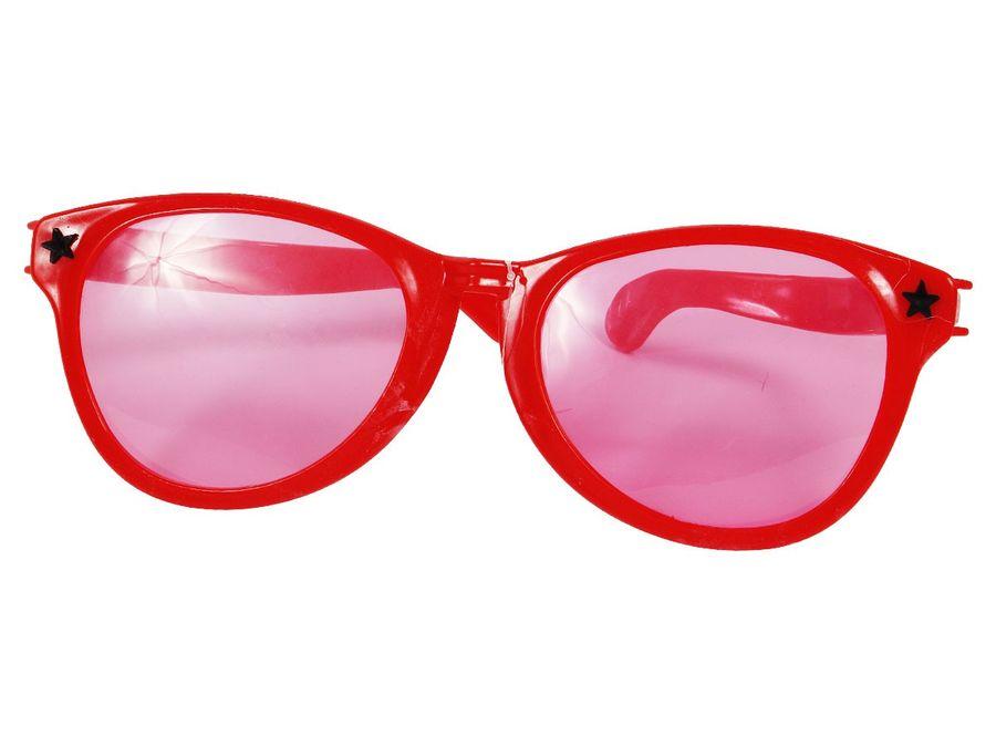 Partybrille Jumbo XXL Brille Karneval Hippiebrille Rund Fasching Riesenbrille – Bild 4