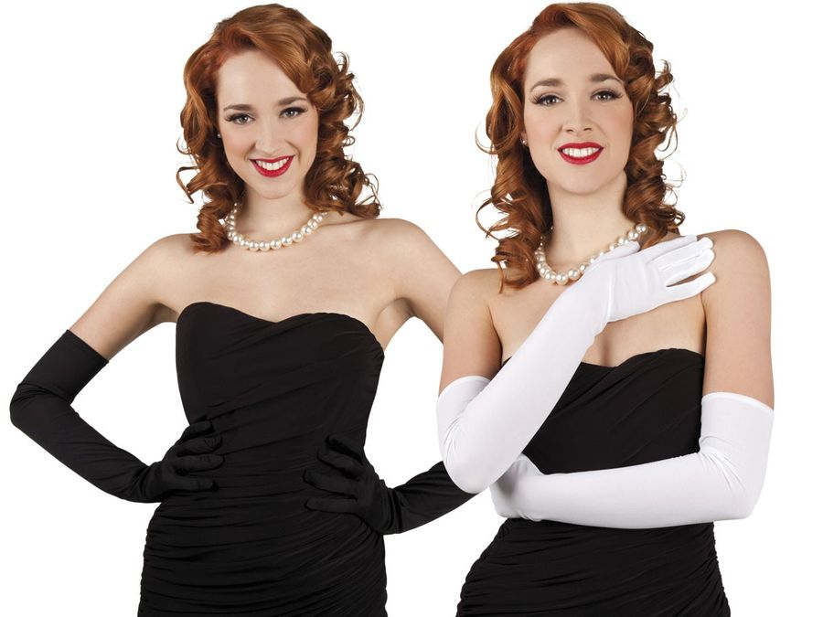 Alsino Damen Handschuhe lang Gloves Karneval Operhandschuhe Fasching
