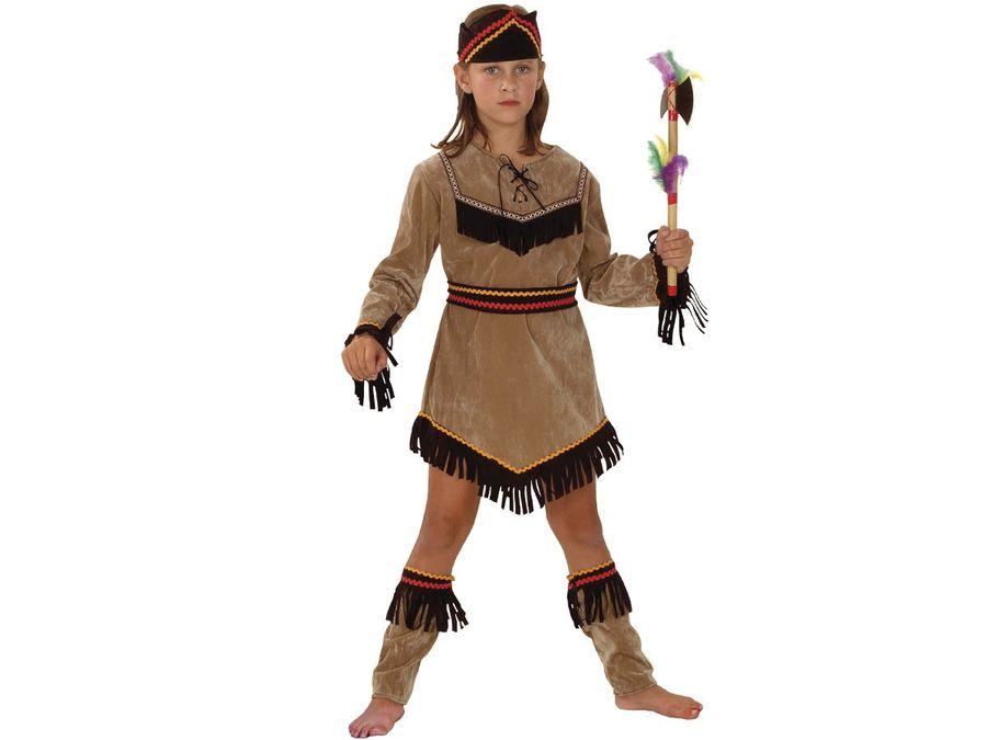 Indianerin Kostüm Karneval Fasching Kinder Indianerkostüm