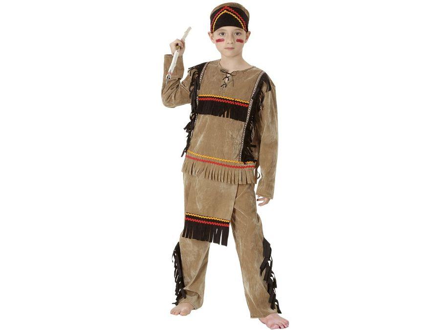 Indianer Kostüm für Kinder komplett Karneval Fasching Indianerkostüm