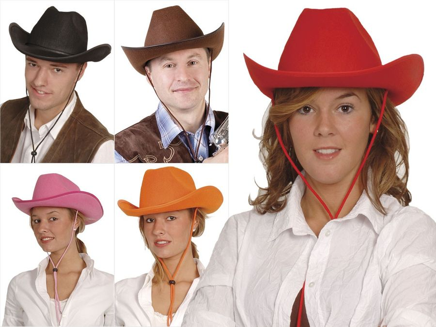Cowboyhüte Karneval Damen Herren Cowboyhut Faschingshut Karnevalshut – Bild 1