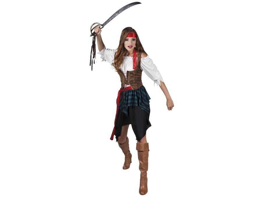 Piratin Kostüm Damen Fasching Karneval Piratenkostüm