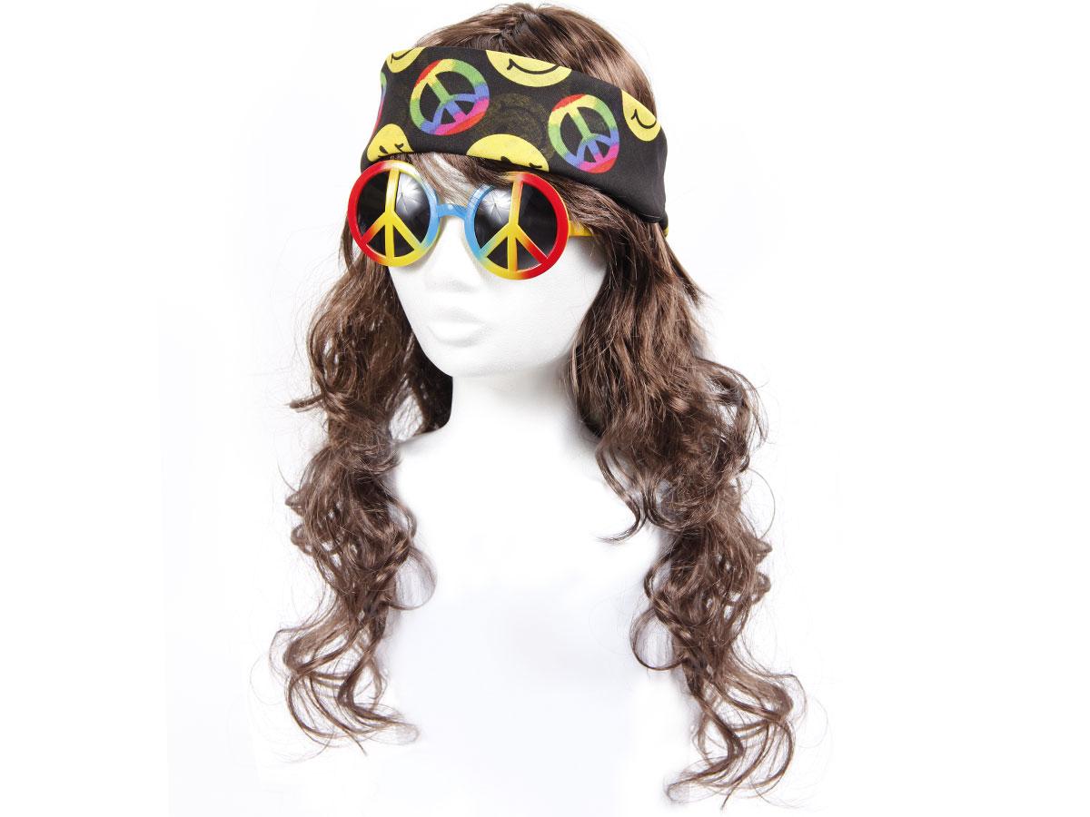 alsino kv 03 hippie 70er jahre per cke flower power peace brille stirnband bandana. Black Bedroom Furniture Sets. Home Design Ideas