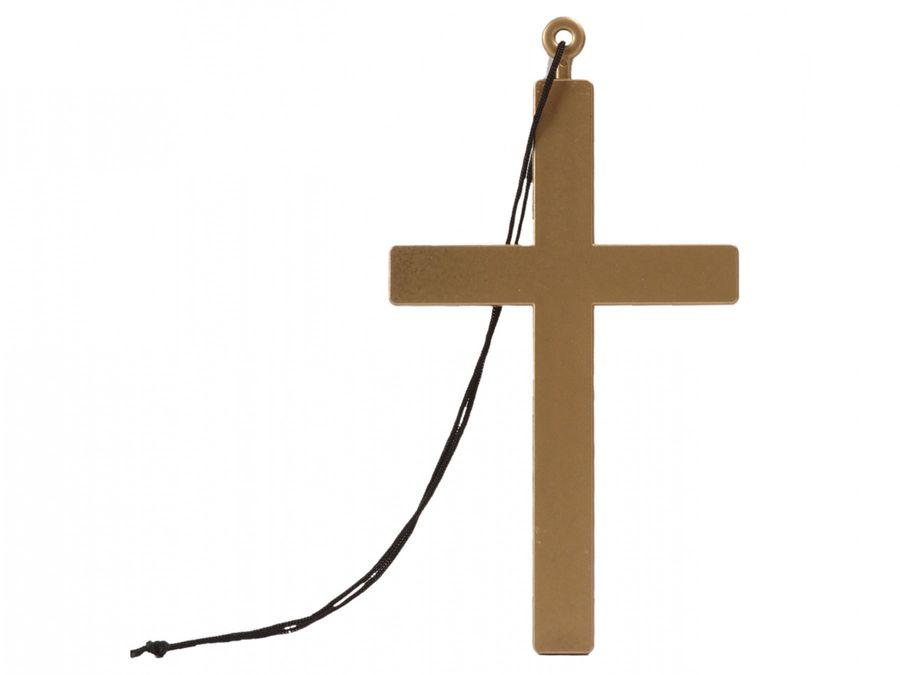 Priester Bischof 00535 Nonne Halskette mit Kordel Karneval Kreuzkette Kreuz Anhänger