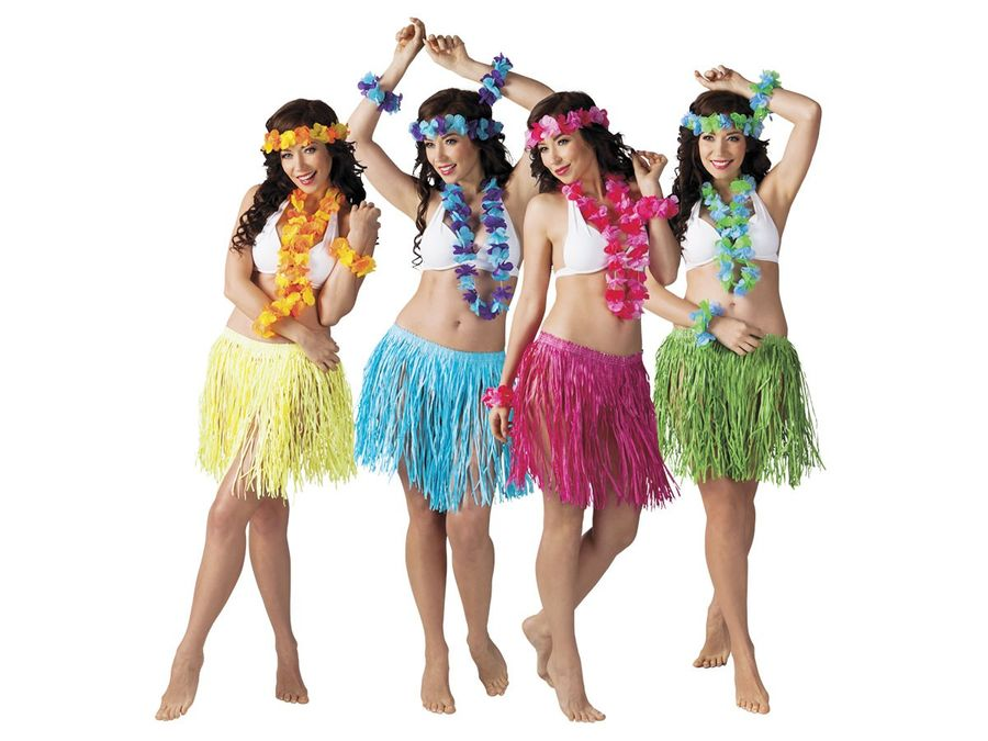 Hawaii Party Outfit für Damen 5-teilig Beach Party Set 52426