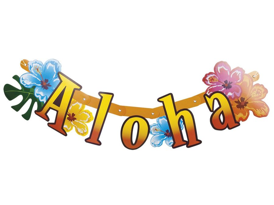 Hawaii Party Deko Banner 83 cm Partygirlande 52515