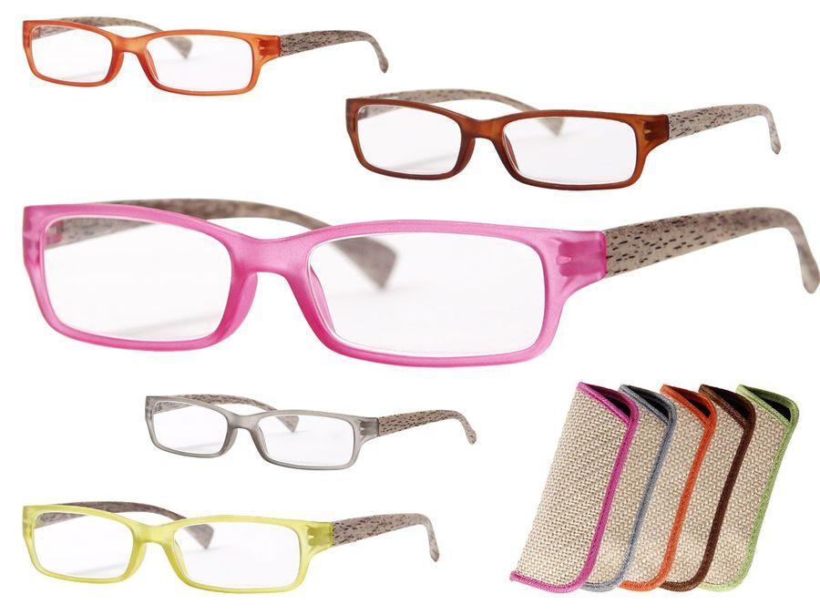 Lesebrille schmale Gläser mit Stärke
