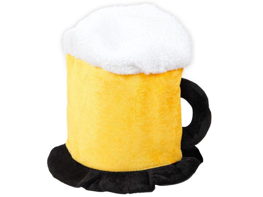 Witziger Bierhut als Bierkrug