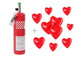 Alsino helium balloons helium bottle plus 10 Heart balloons Party Wedding