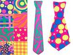 Cravate multicolore plusieurs couleurs(P-31-50)