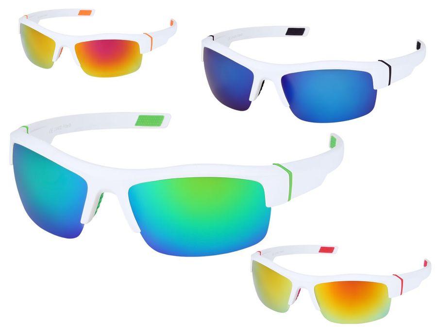 Sportbrille in weiß