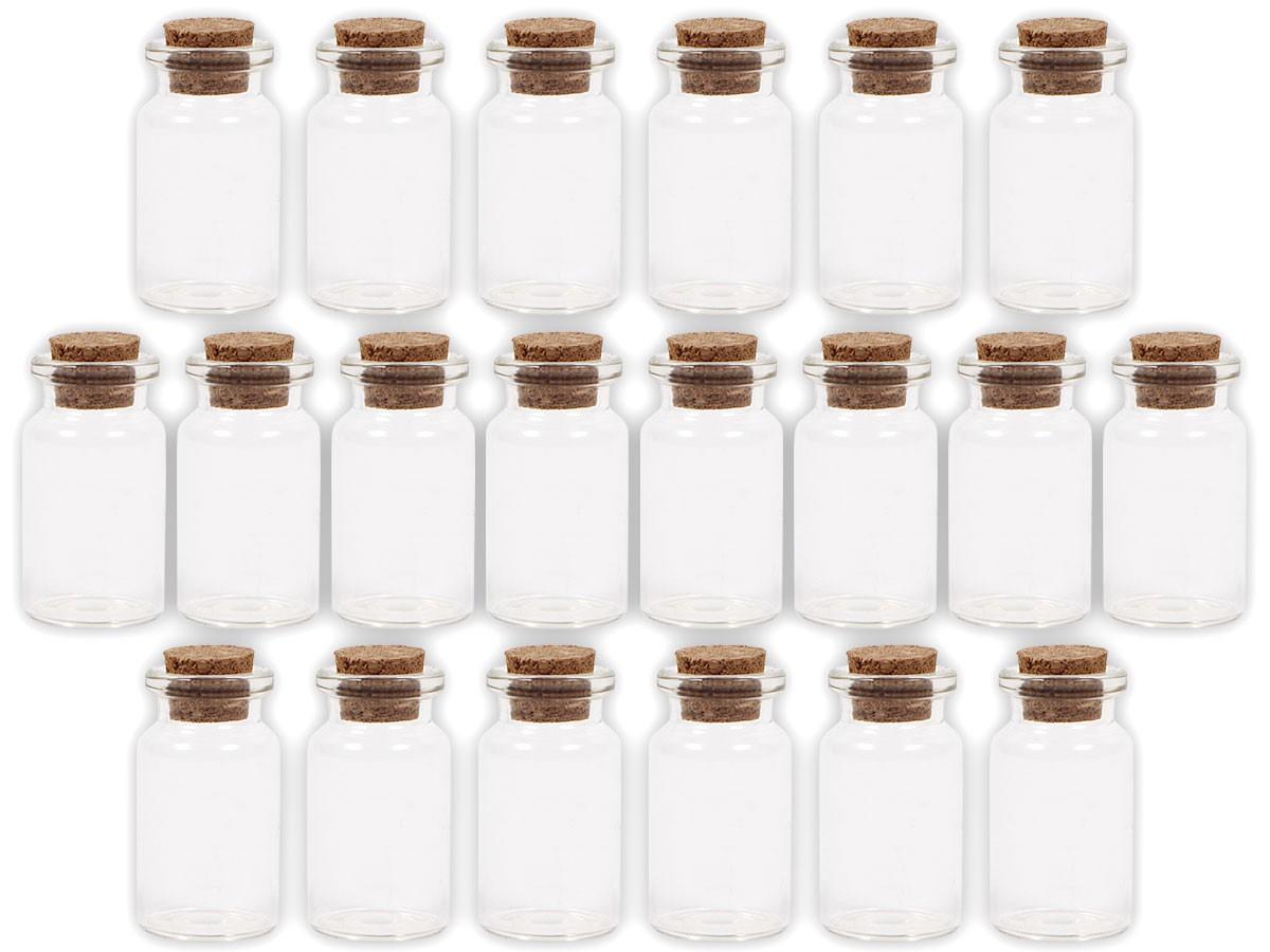 alsino 40 st ck glasfl schchen mit korken gf 01 set leere mini glas flaschen schnapsflaschen. Black Bedroom Furniture Sets. Home Design Ideas