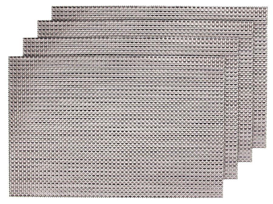Alsino 4er Set edle PlatzmattenTS-04 braun metallic Tisch Sets Platzset Tischmatten Untersetzer Platzdeckchen