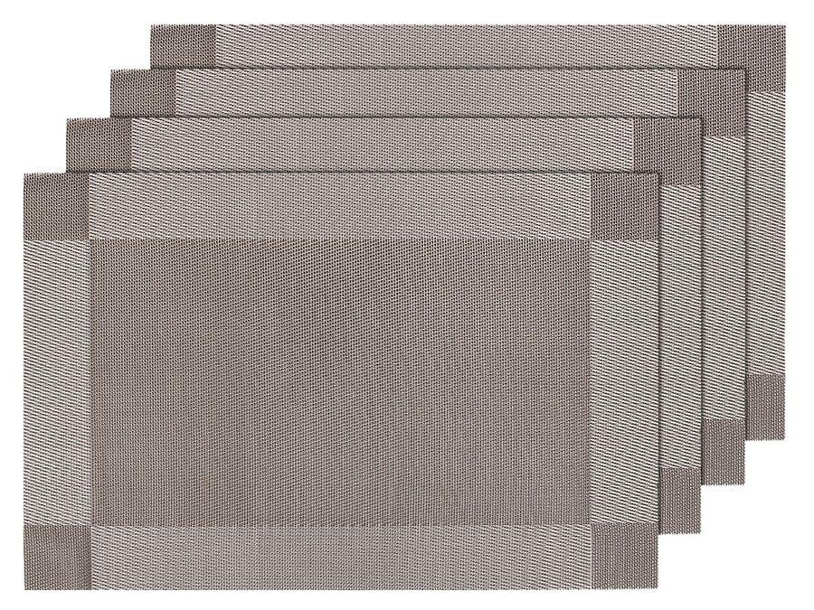 4er Set edle Platzmatten TS-26 silber grau