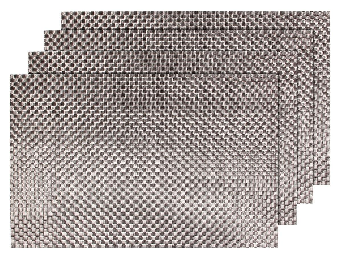 4er set edles platzset ts 57 grau braun metallic. Black Bedroom Furniture Sets. Home Design Ideas