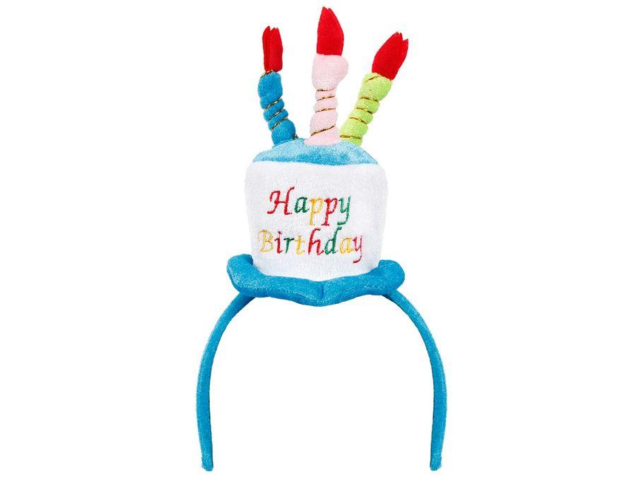 Alsino Happy Birthday Haarreif Hut Geburtstagshut Partyhut Kerzen Geburtstag