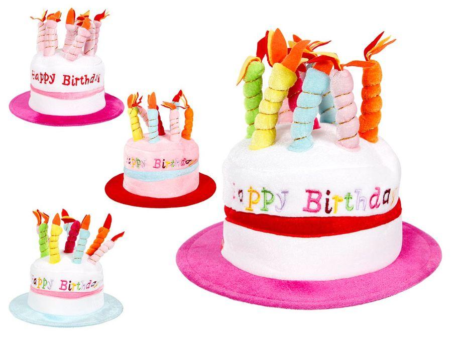 Alsino Happy Birthday Geburtstagshut Hut Geburtstagstorte Mütze Kerzenhut mit Melodie