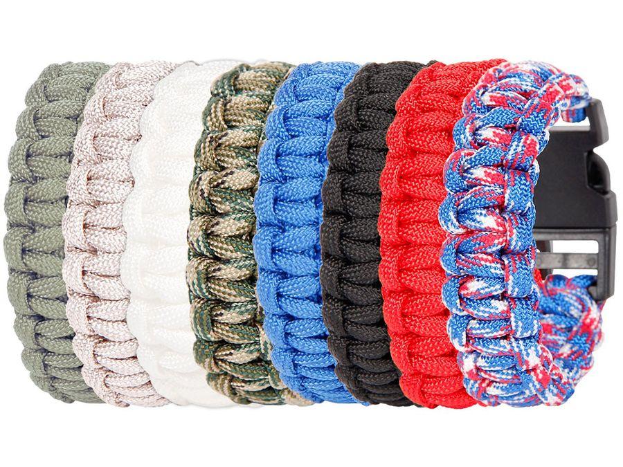 Alsino Paracord Armband Paracordarmband Kordel Survival Outdoor Bracelet Paraarmband – Bild 1