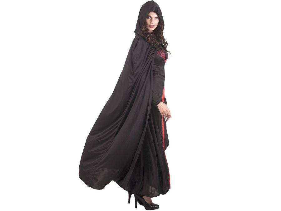 Vampir Cape schwarz 180cm 96936