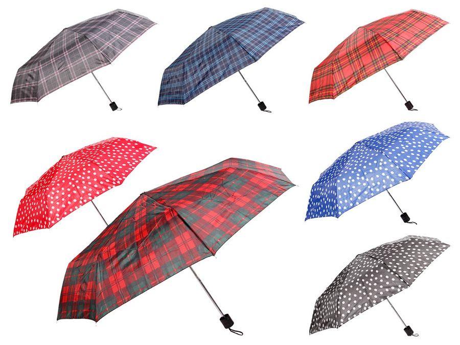 Alsino Regenschirm Mini Dots Taschenschirm Schirm Taschen-Schirm kariert mit Hülle